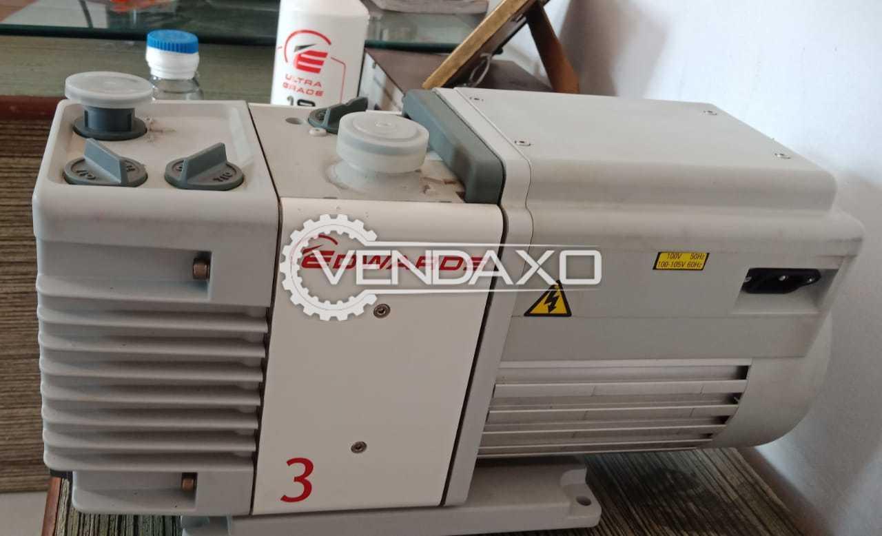 Edwards RV3 Lab Vacuum Pump - Nominal Rotation Speed - 1500 / 1800 RPM