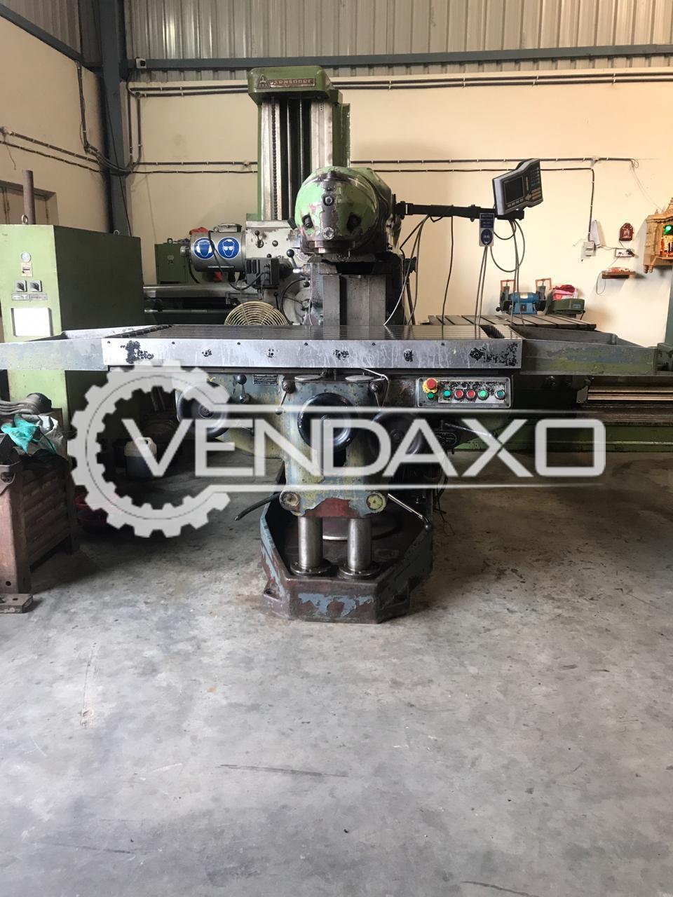 HURON MU55 Universal Milling Machine - Table Size - 1700 x 700 mm