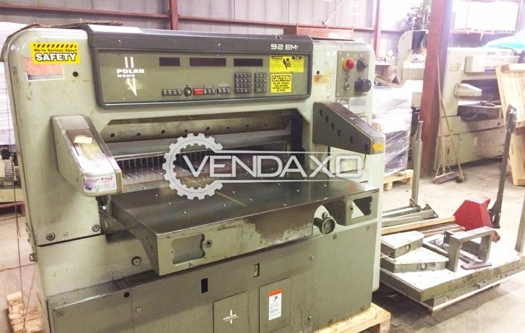 Polar 92 EM Paper Cutting Machine - Size - 36 Inch, 1989 Model