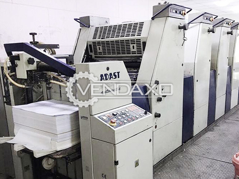 Adast Dominant 745C Offset Printing Machine - 4 Color, 2005 Model
