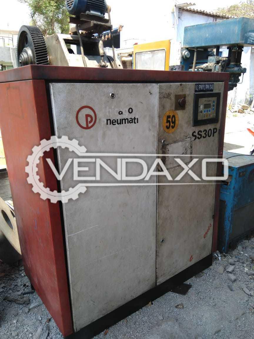 Pneumatic SS 30P Screw Compressor - 30 HP