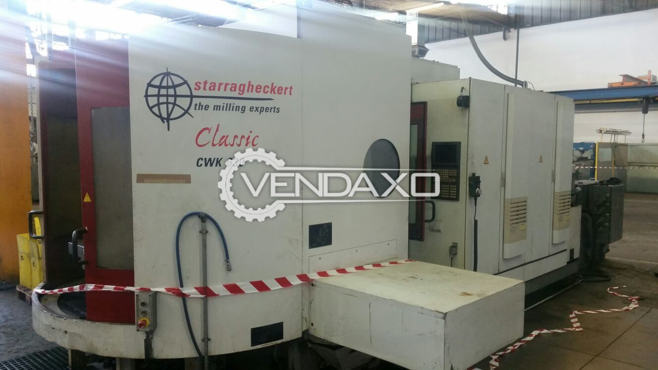 StarragHeckert CWK 630 CNC Horizontal Machining Center - Pallet size 800 x 630 mm