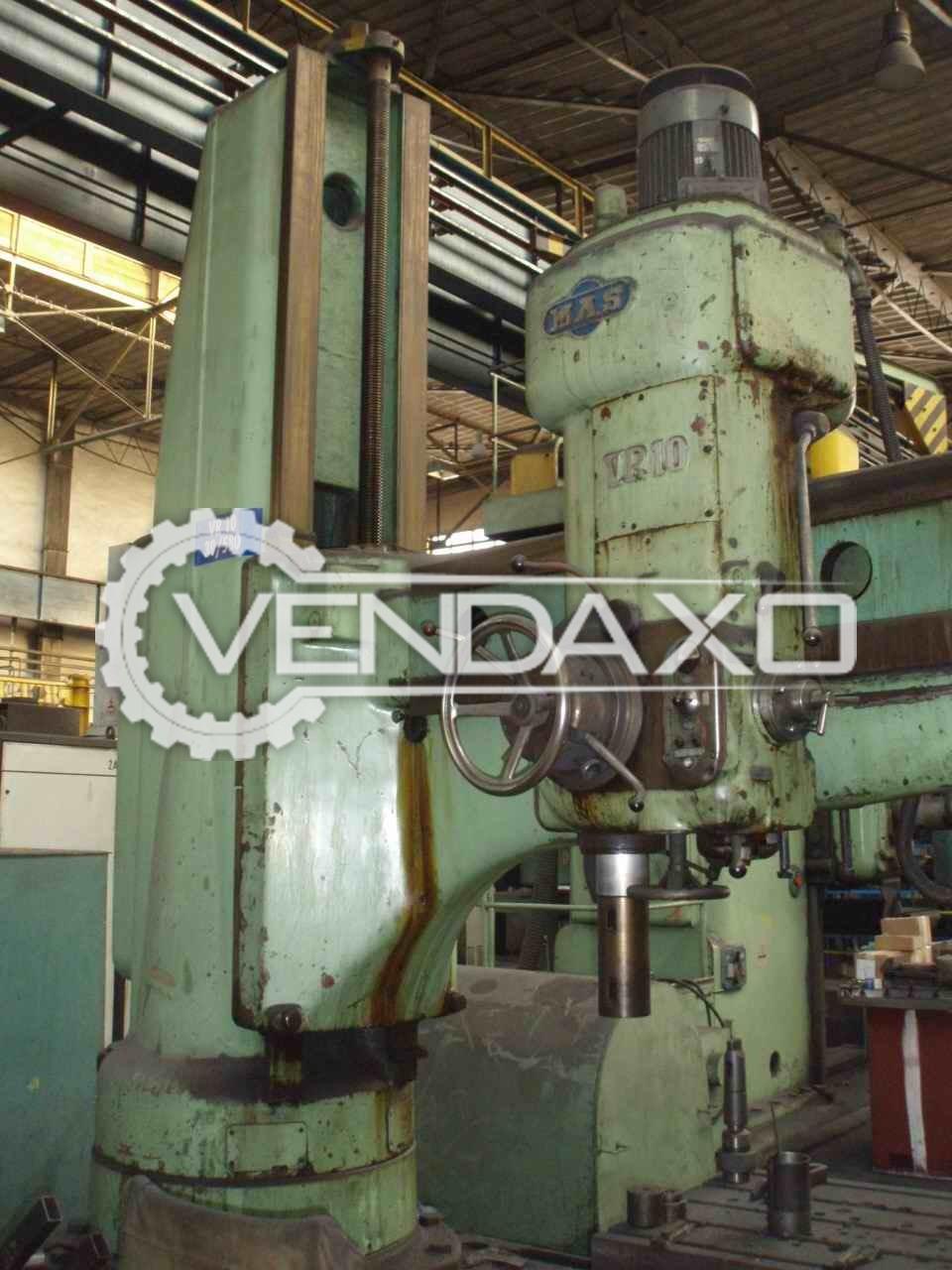 Mas vr 10 radial drill machine 100 mm 2