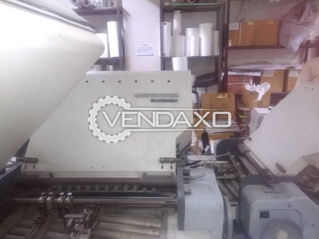 Heidelberg Stahlfolder TD66 6-4-2 Folding Machine - 2002 Model