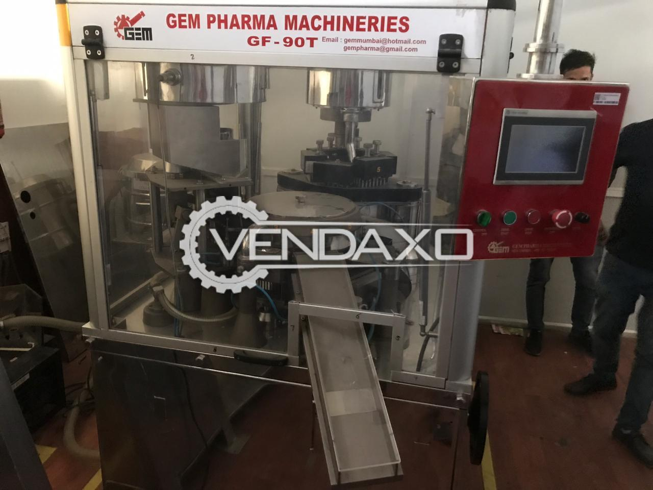 GEM GF 90T Pharma Capsule Filling Machine - 1500 Capsule / Minute