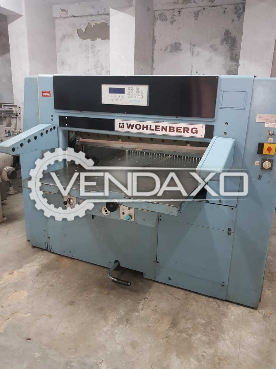Wohlenberg 115 Paper Cutting Machine - Size - 45 Inch, 1980 Model