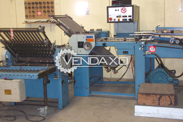 MBO T 67 Folding Machine - Size - 26 x 40 Inch, 1990 Model