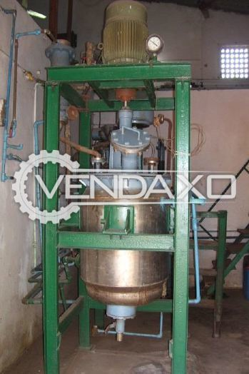 SS 304 High Speed Emulsifier With Dispensing Facility, Condenser and Steam Mixer - 200 KG