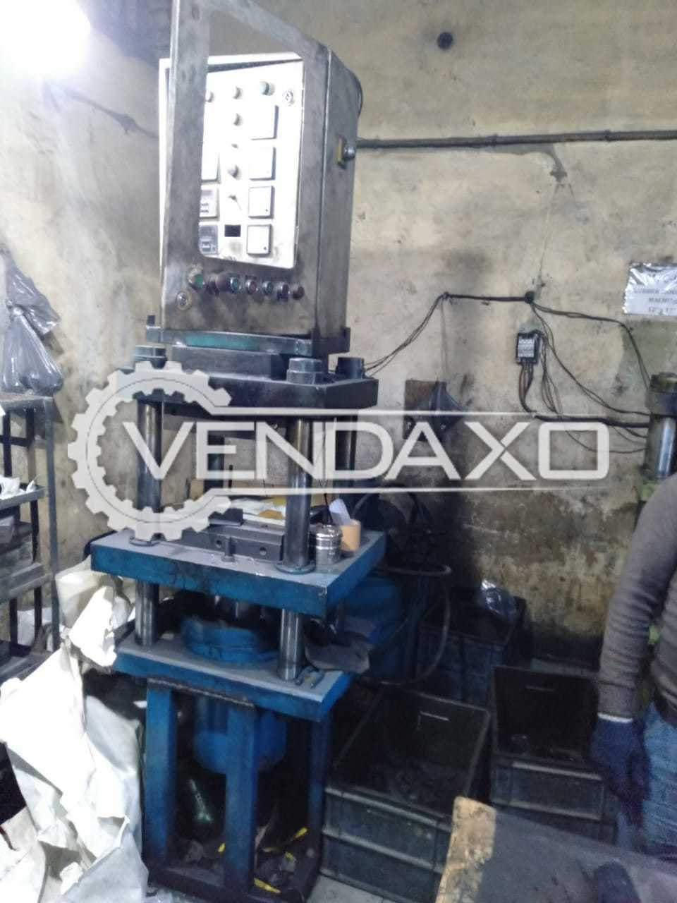 Rubber Hydraulic Press Machine - 14 X 14 Inch