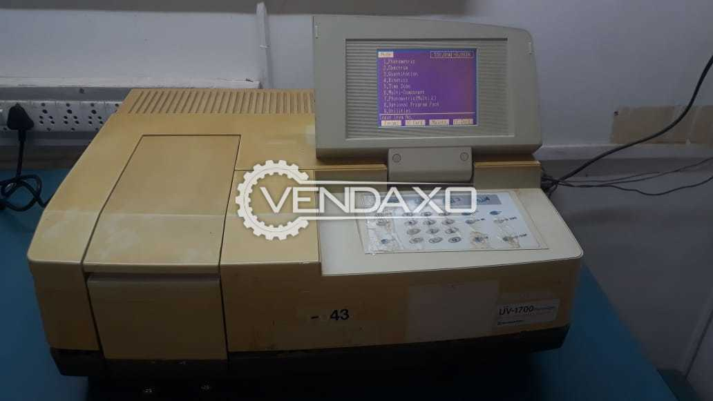 Shimadzu Make Spectrophotometer  - Model UV-1700