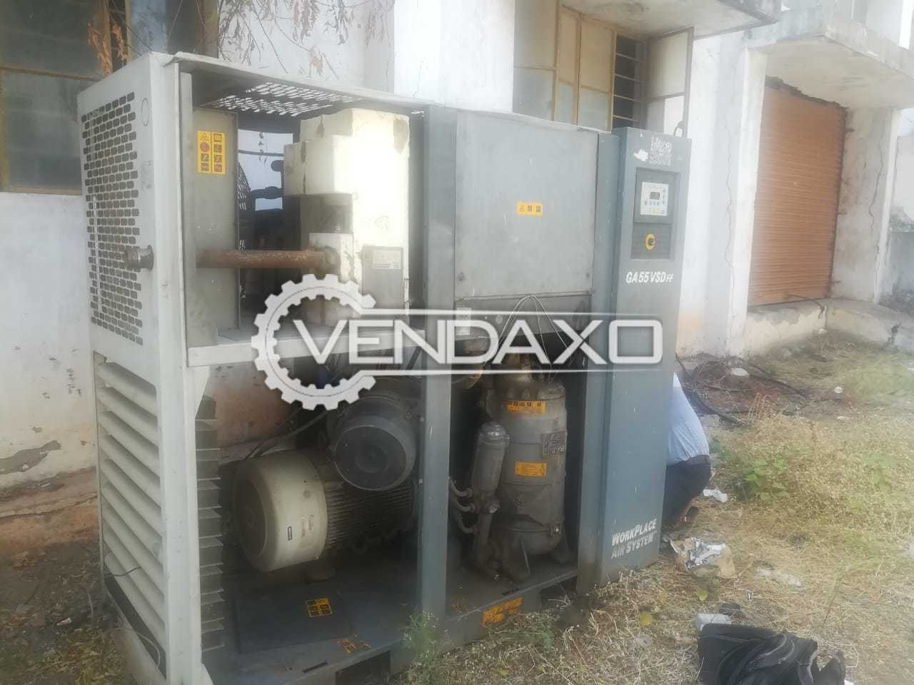 Atlas Copco VSDFF Air Compressor - 55 Kw