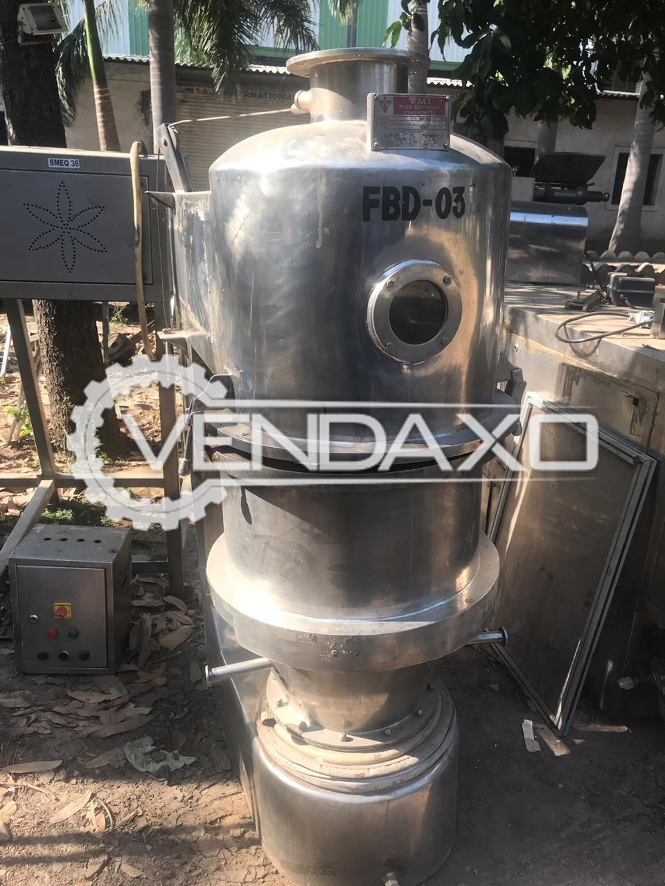 VMI Make Fluid Bed Dryer (FBD) - 15 Kg