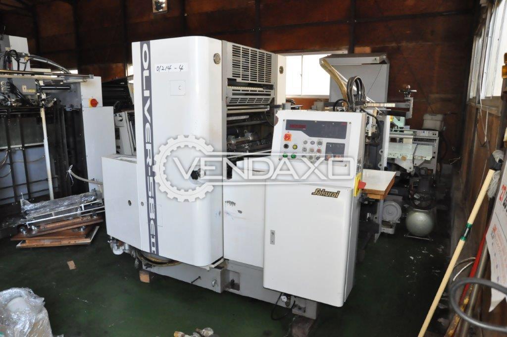 Sakurai Oliver 58 EII Offset Printing Machine - Single Color