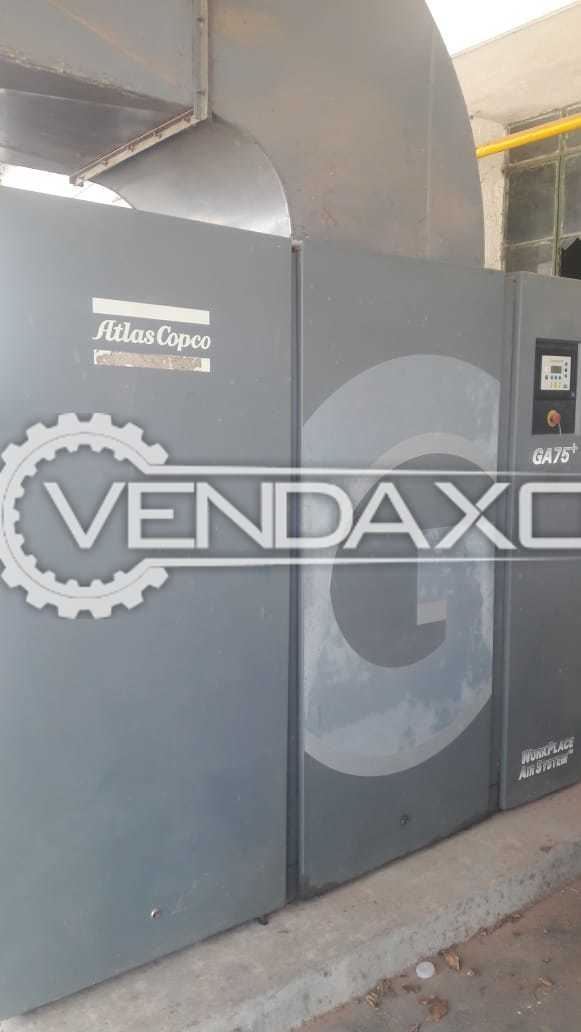 Atlas Copco GA 75+ Air Compressor - 75 kW, 2008 Model