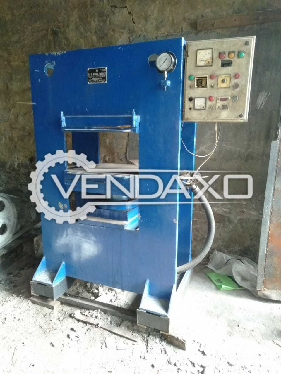 Rubber Hydraulic Press Machine - 24 X 24 Inch