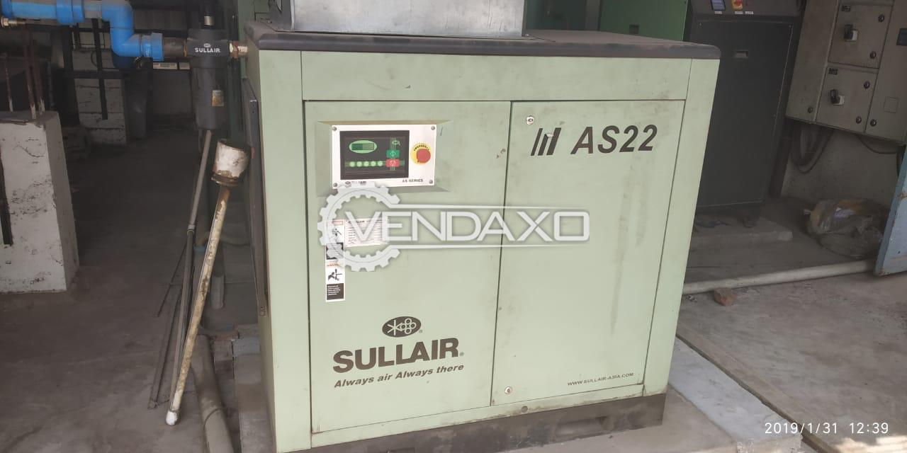Sullair AS2207 Screw Air Compressor - Pressure Bar - 7.6