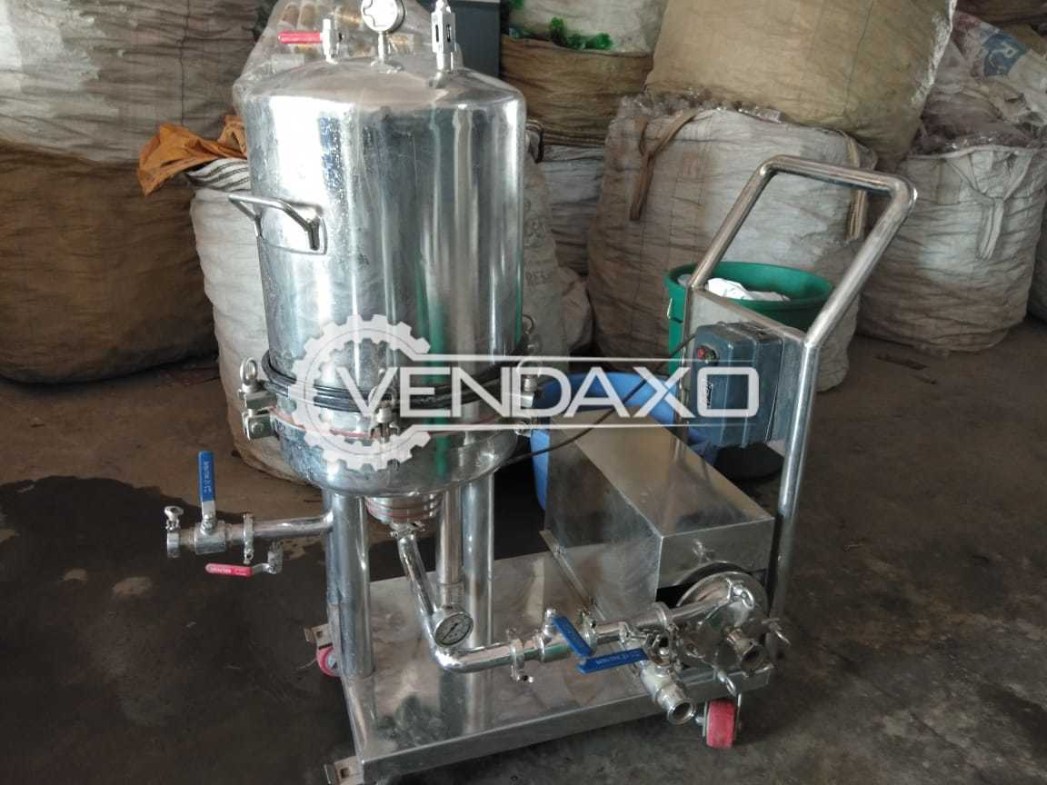 SS 304 Sugar Malting Tank and Filter Press - 500 Liter