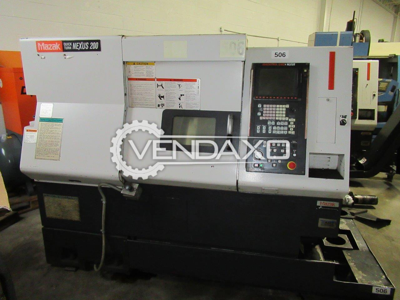 Used Mazak Quick Turn Nexus 200 CNC Turning Center - Max