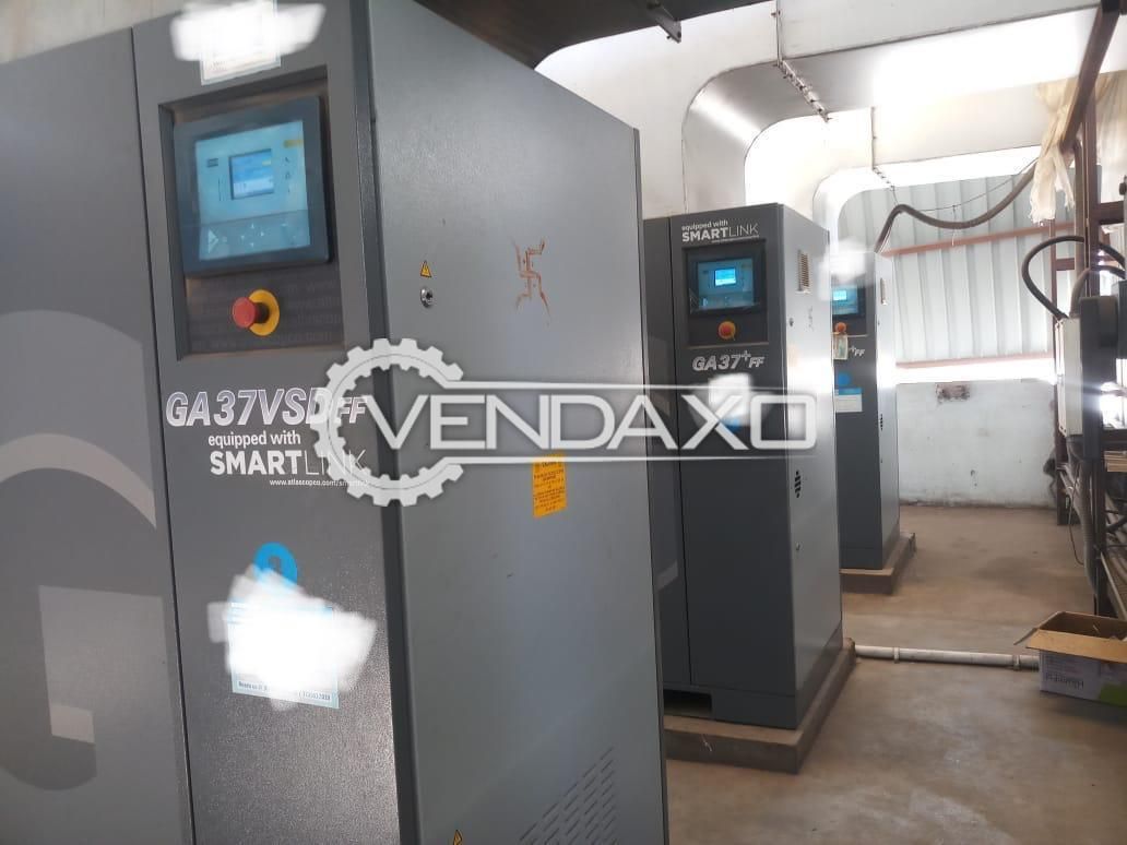 Atlas Copco GA 37+VSD FF Air Compressor - 37 Kw, 2015 Model