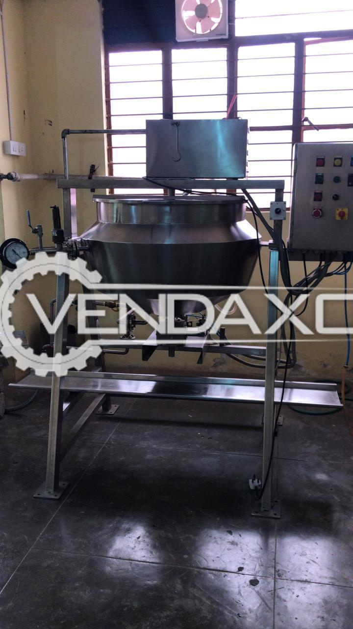 SS 304 Steam Jacketed Kettle - 100 Liter