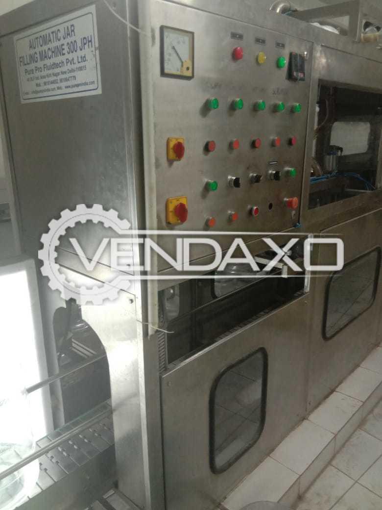 Semi Automatic Jar Filling Machine - Speed - 300 Bottles Per Hour