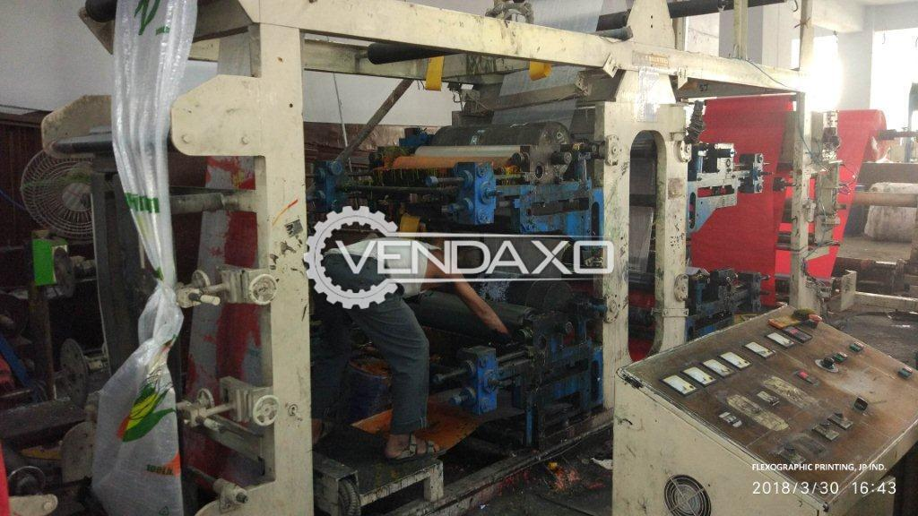 J.P Make FlexoGraphic Printing Machine - 4 Color, 2012 Model