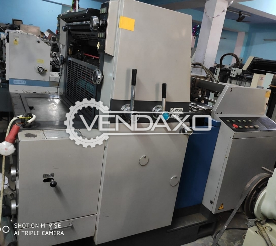 Ryobi 560 Offset Printing Machine - 16 x 22 Inch, Single Color