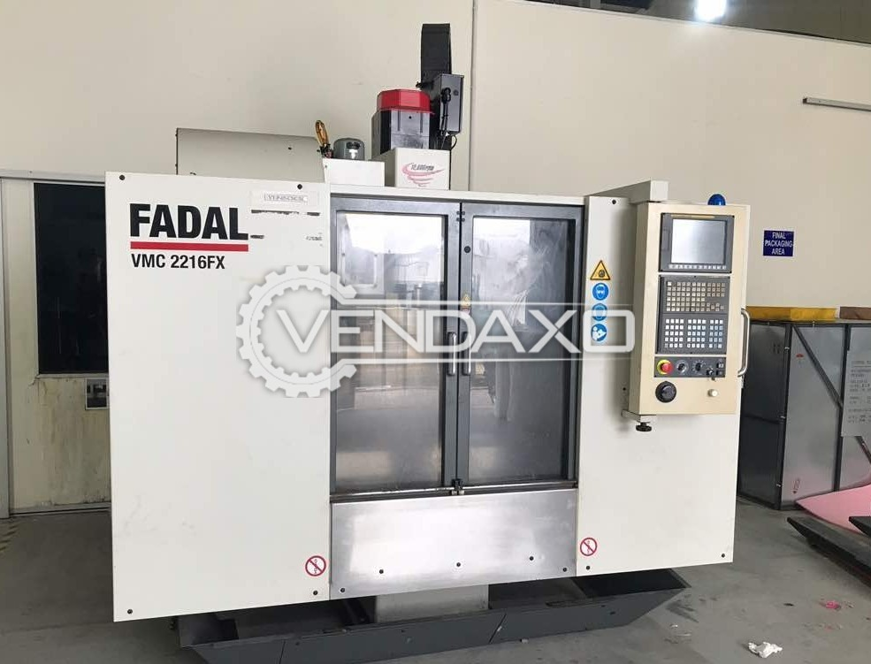 FADAL VMC-2216 FX CNC Vertical Machining Center - Table Size : 990 x 406 mm