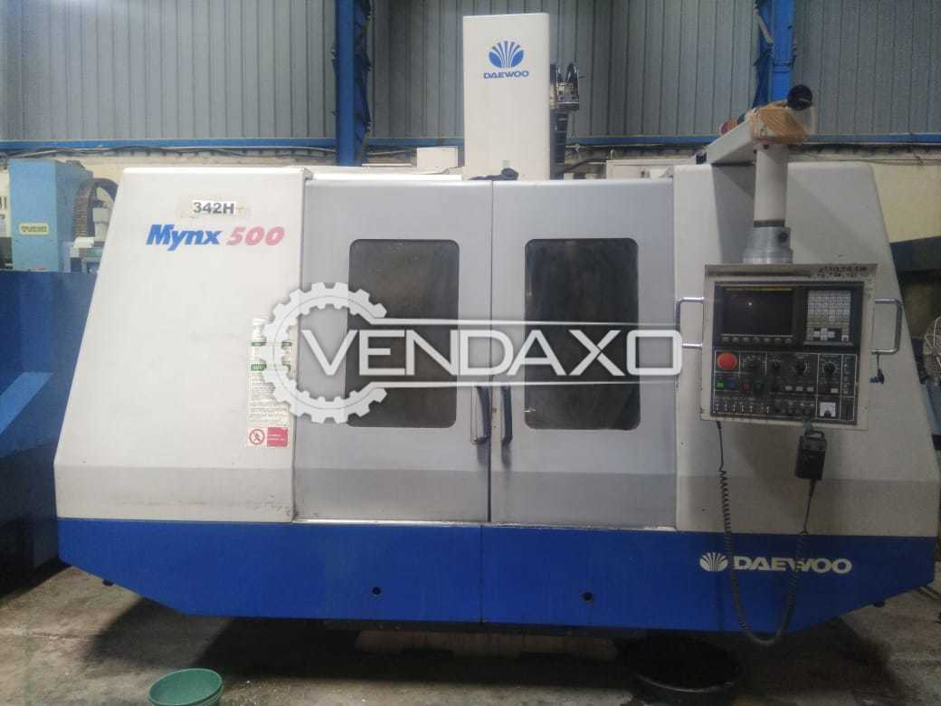 DAEWOO Mynx 500 CNC Vertical Machining Center - Table Size : 1200 x 500 mm
