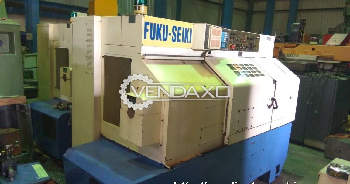Fuku-Seiki Make CNC Lathe Machine - Turning Length : 550 mm