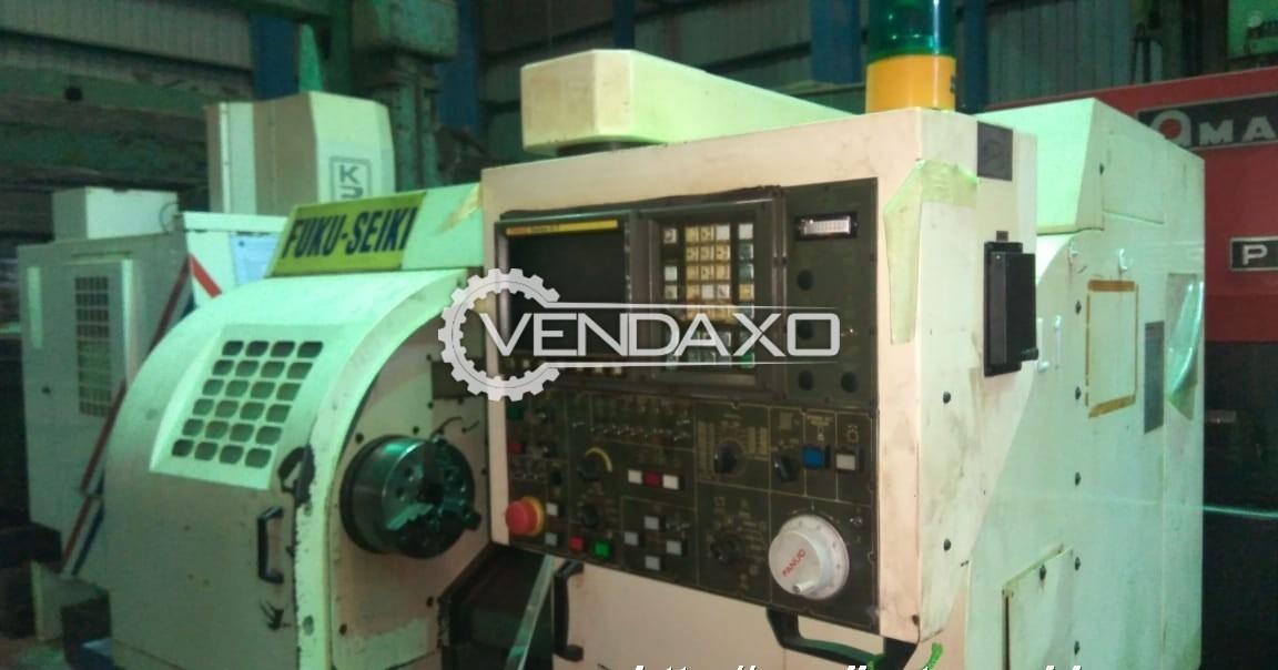 Fuku-Seiki Make CNC Lathe Machine - Chuck Diameter : 250 mm
