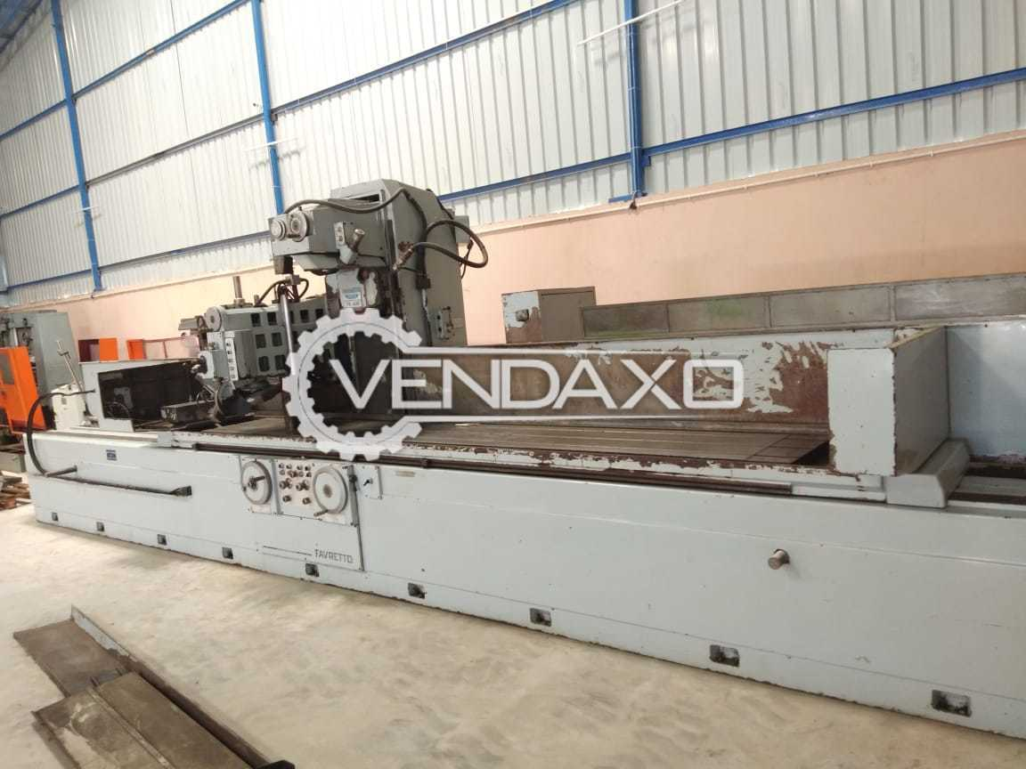 Favretto TD 400/S Surface Grinding Machine - Table size : 600 x 4400 mm