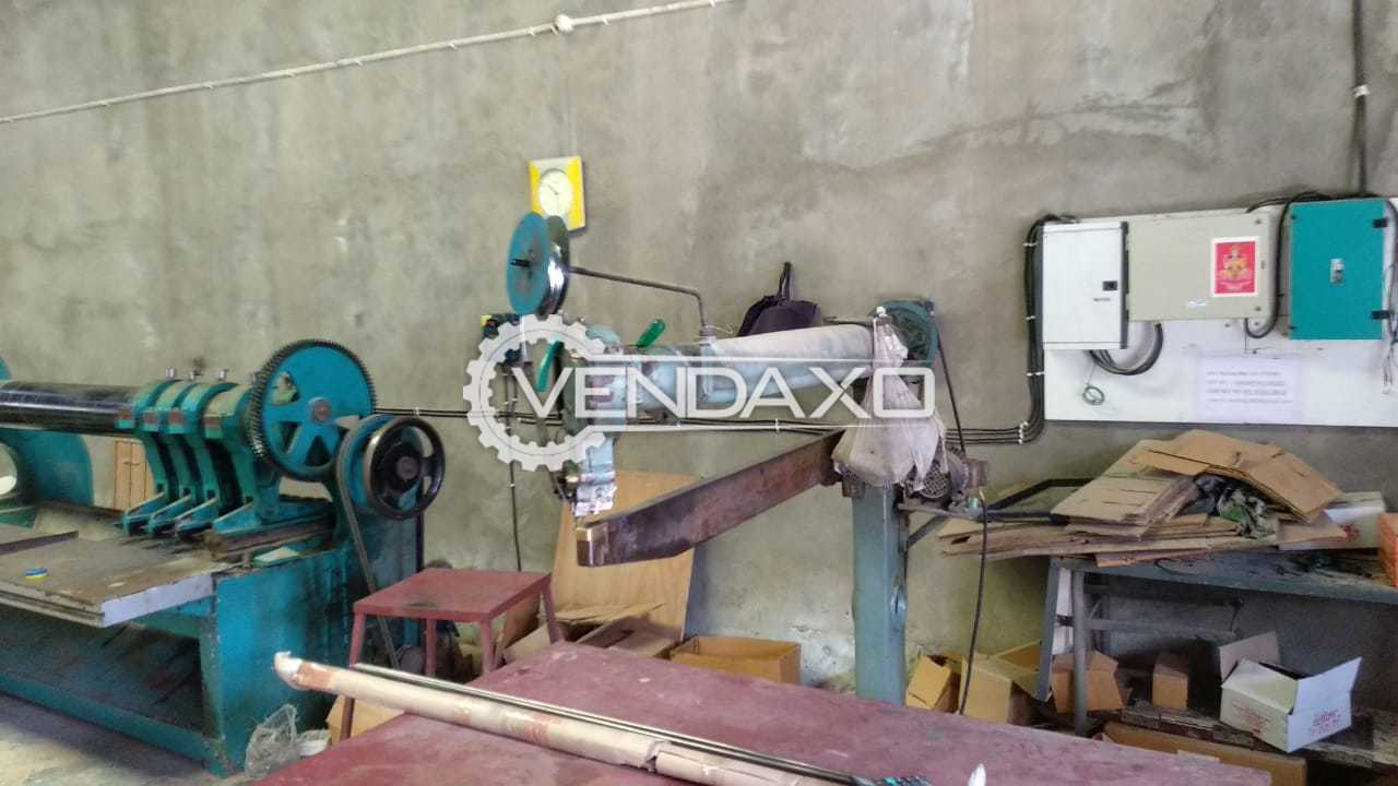 Available For Sale Corrugation, Sheet cutter, Slotting, Pasting, Stitching Machine