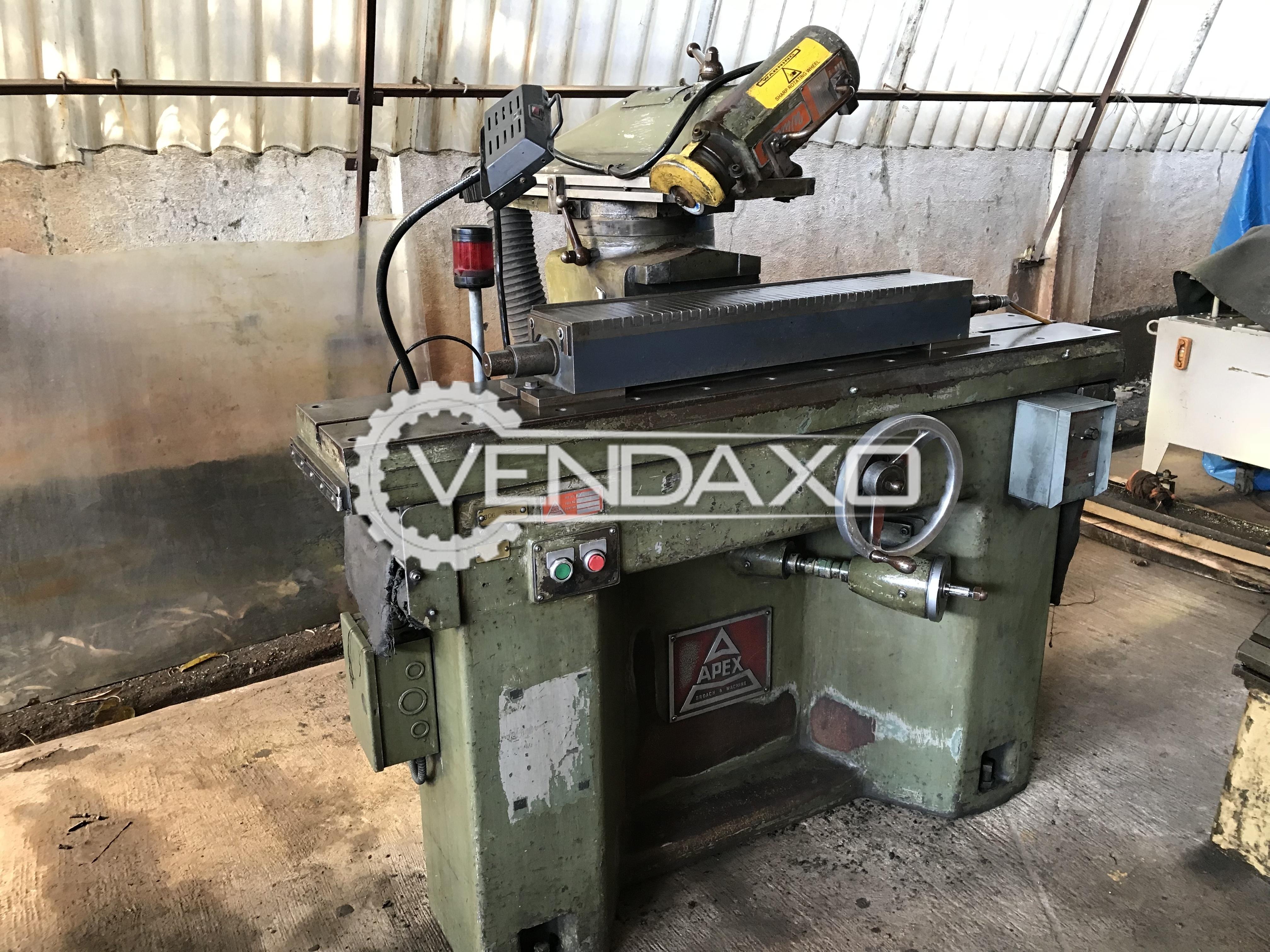 Apex broach grinding machine