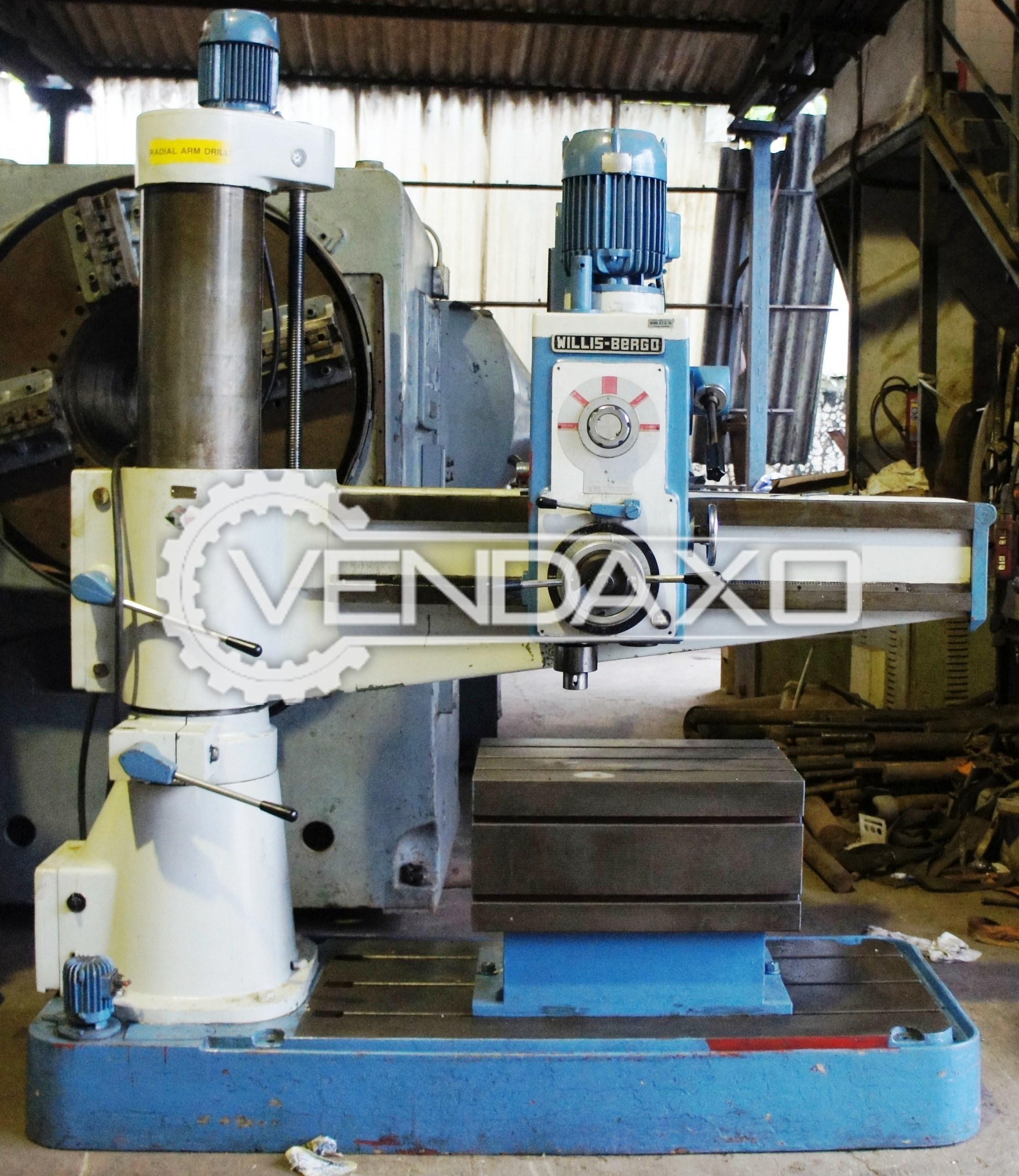 Willis bergo radial drill machine   50 mm