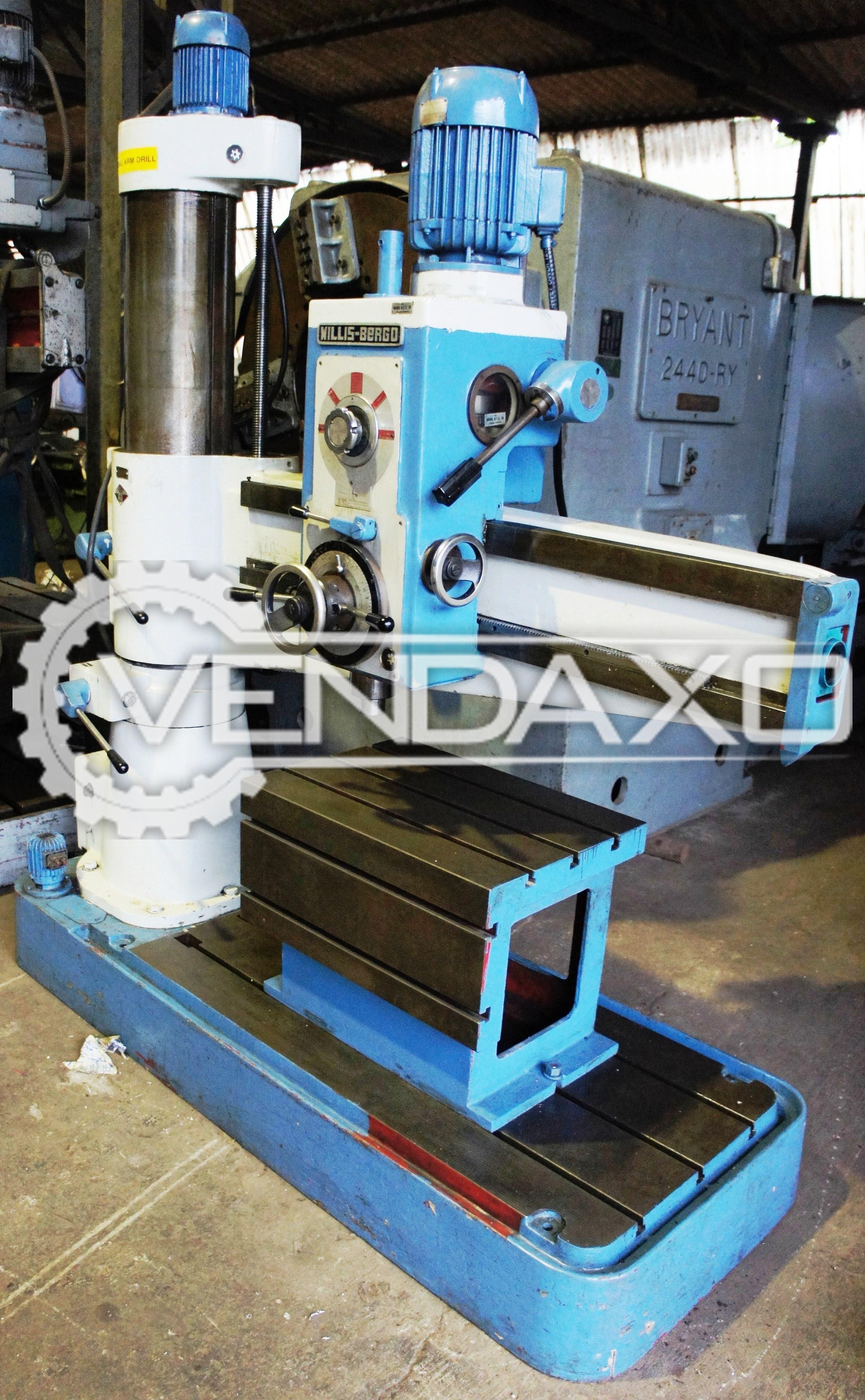 Willis bergo radial drill machine   50 mm 4