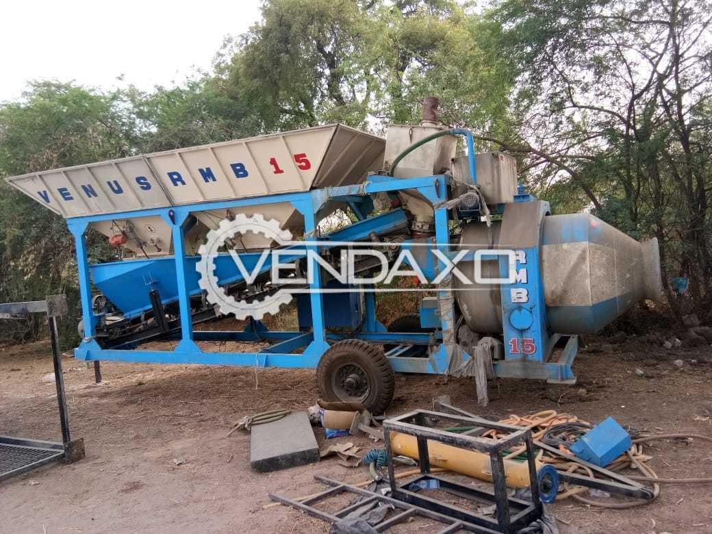 Venus RMB-15 Mobile Concrete Batching Plant - 15 Cmt Per Hour