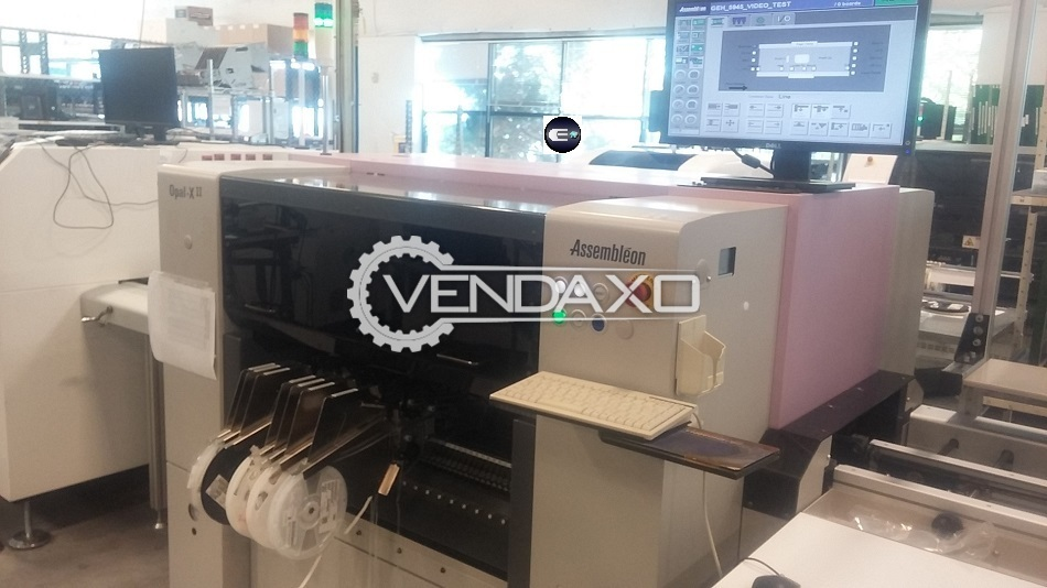 Assembleon Opal Xii Used SMT Placement Machine, High Speed Flexible SMT pick and place machine, Vision, BGA, Philips
