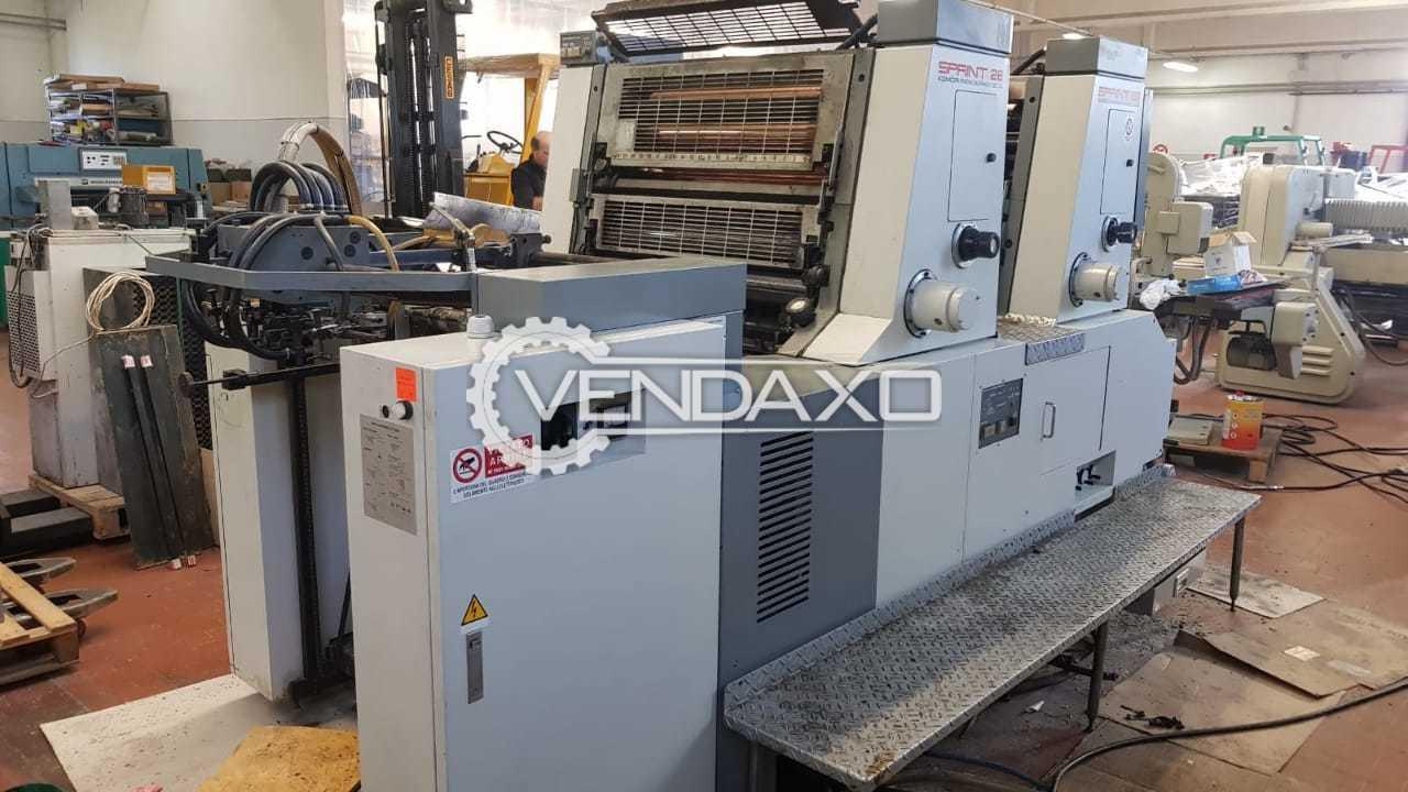 Komori S228P Offset Printing Machine - 2 Color, 1990 Model