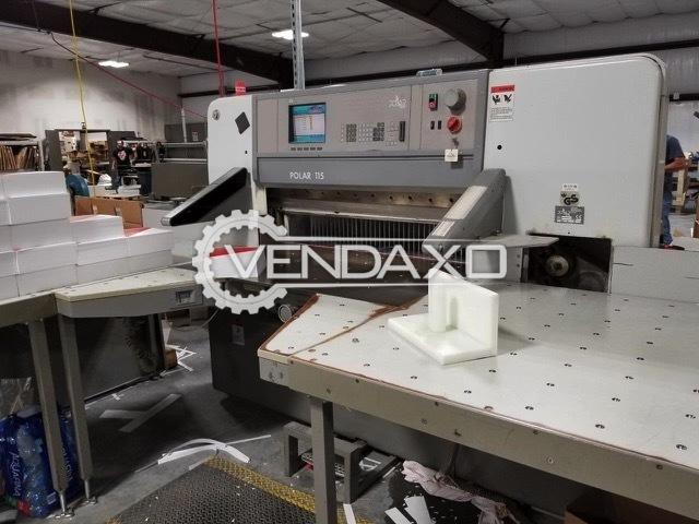 Polar 115 ED Paper Cutting Machine - 61 Inch, 1998 Model