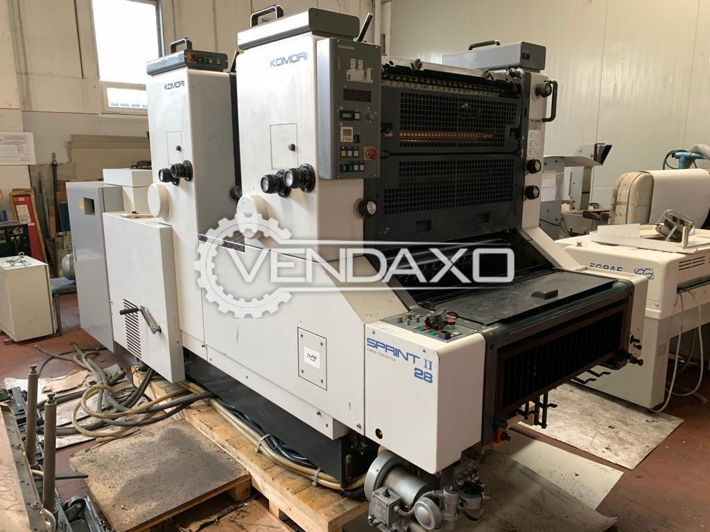 Komori Sprint 228 Offset Printing Machine - 2 Color, 1995 Model