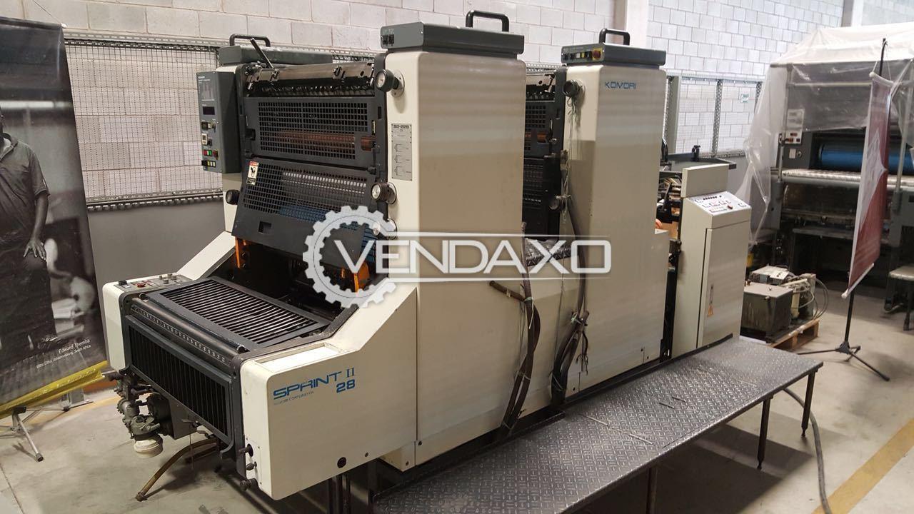 Komori Sprint 228 Offset Printing Machine - 2 Color, 1997 Model