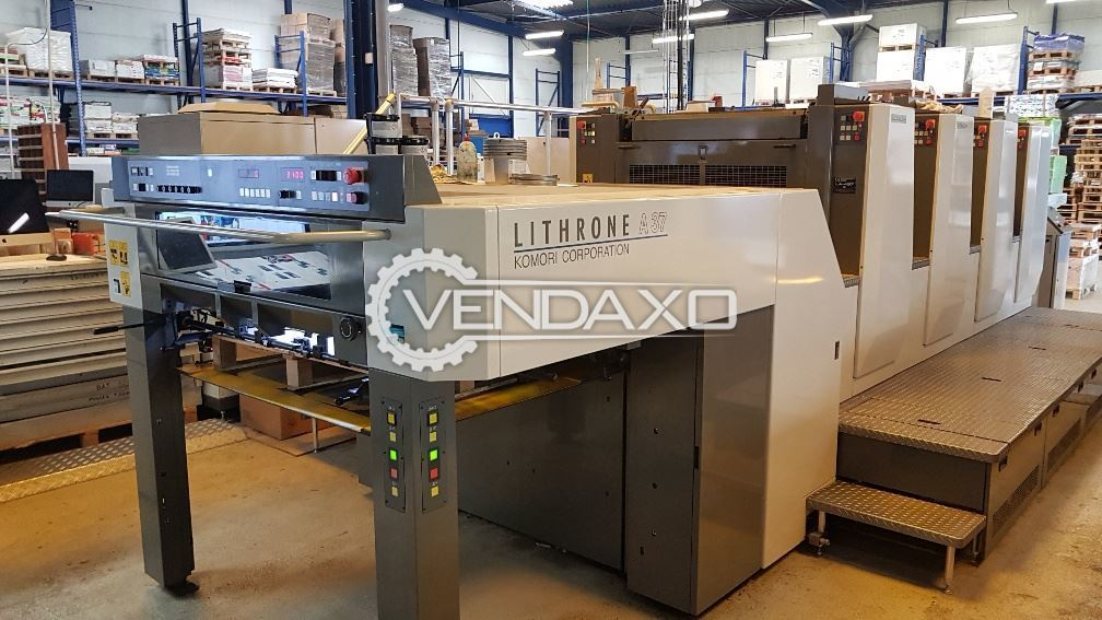 Komori Lithrone A437 Offset Printing Machine - 4 Color, 2014 Model