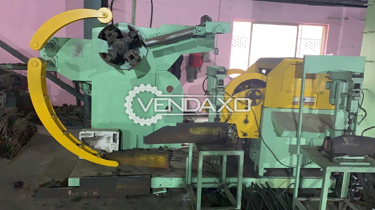 Available For Sale Non Working Youngrim nc Leveller Decoiler Machine