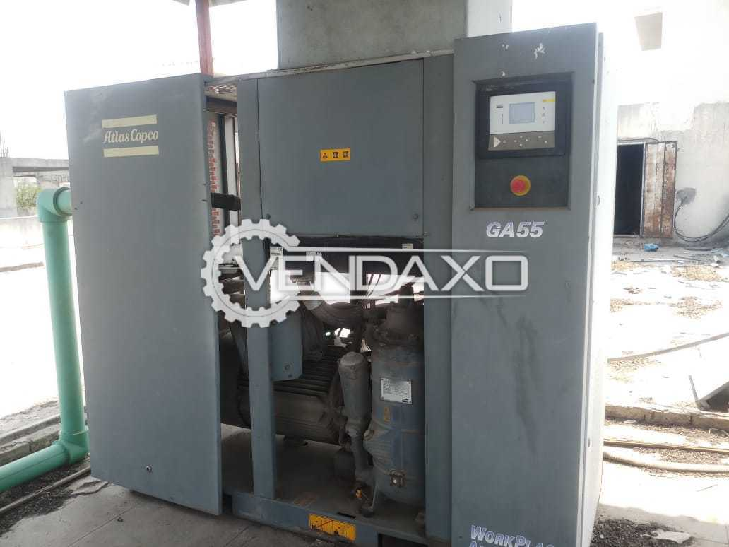 Atlas Copco GA 55 Air Compressor - 75 HP, 2011 Model