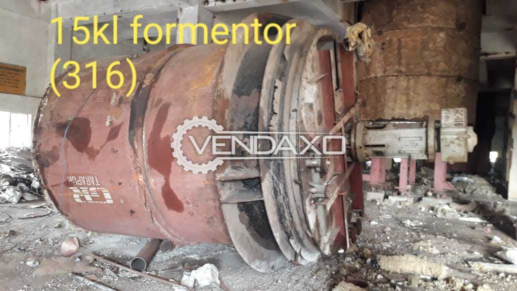 Indian Make 316 Fermentor - 15 KL