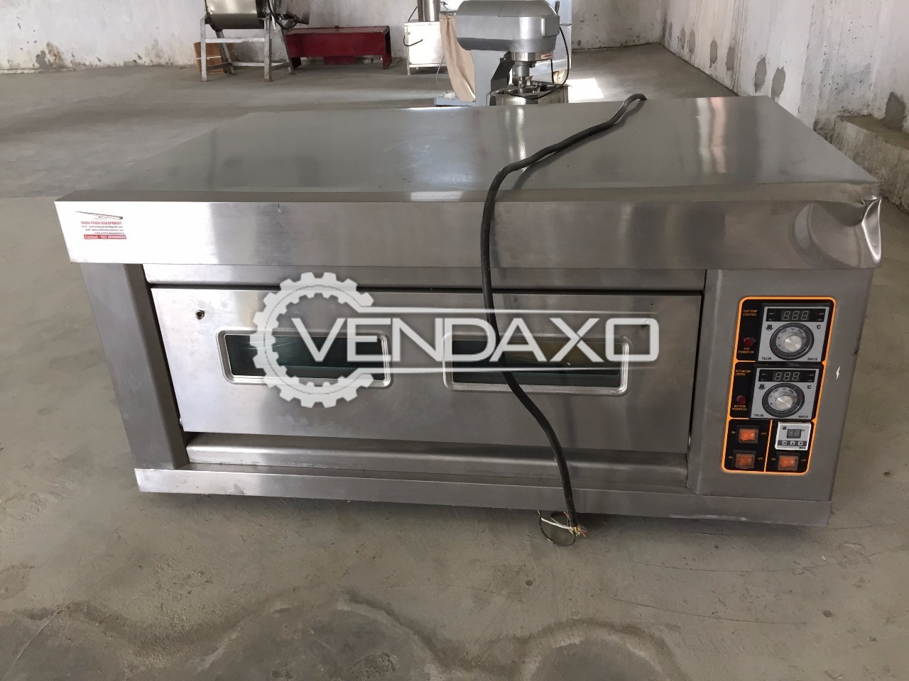 Available For Sale Bakery Equipment - Single deck, 2016 Model