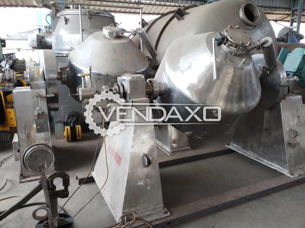 Roto Cone Vacuum Dryer (RCVD) - GMP Model, 600 Liter