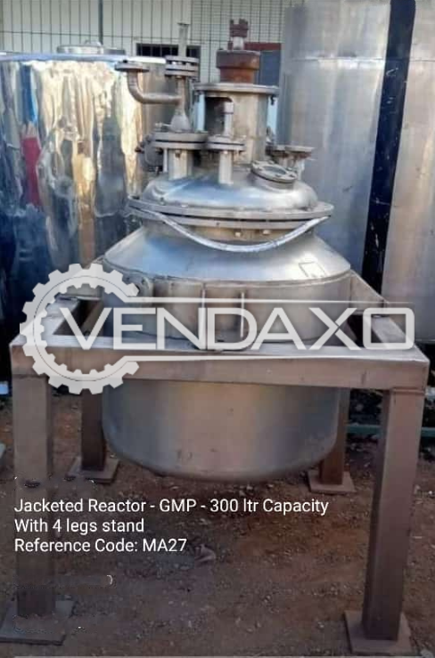 Indian Make GMP Reactor With Jacket - 300 Liter