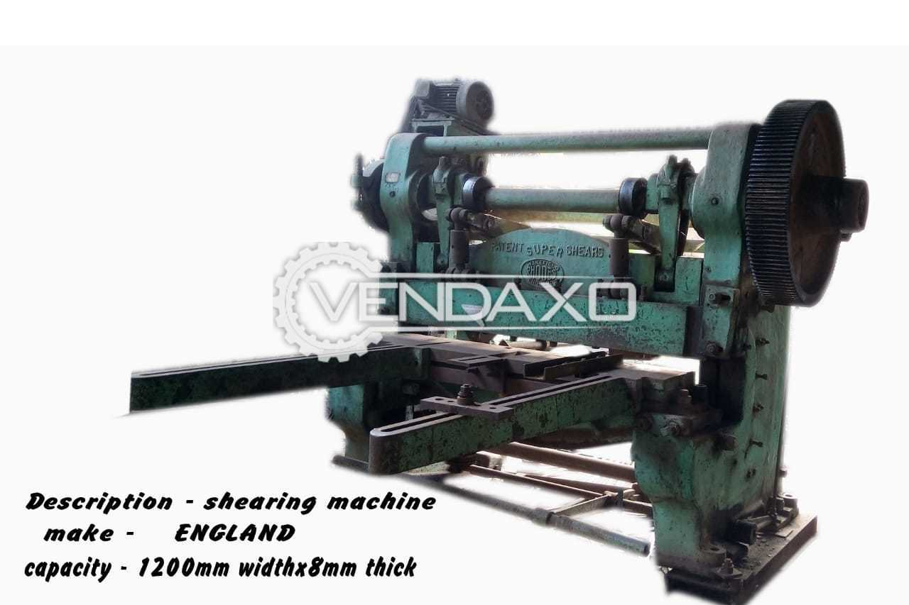England Make Shearing Machine - 1200mm x 8mm